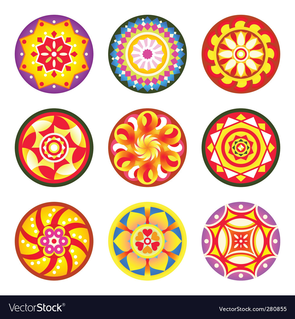 Indian floral patterns vector | Price: 1 Credit (USD $1)