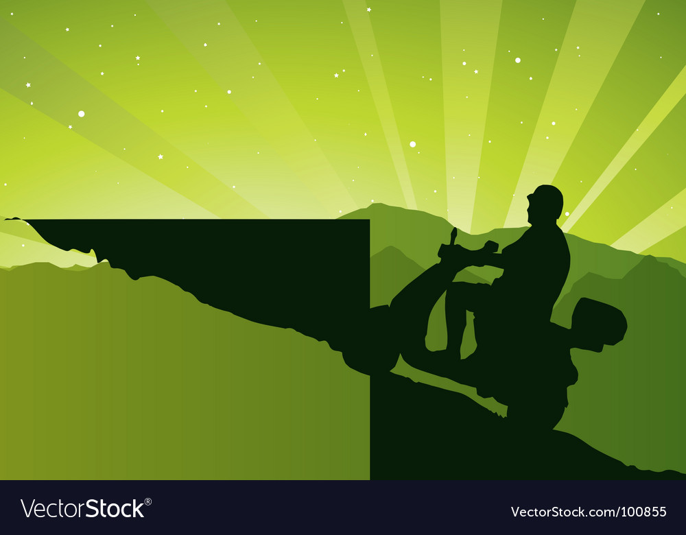 Man on scooter vector | Price: 1 Credit (USD $1)