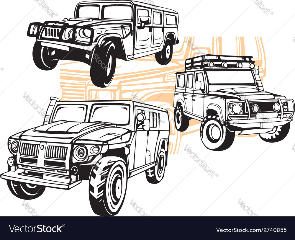 Off-road cars - set vector | Price: 1 Credit (USD $1)