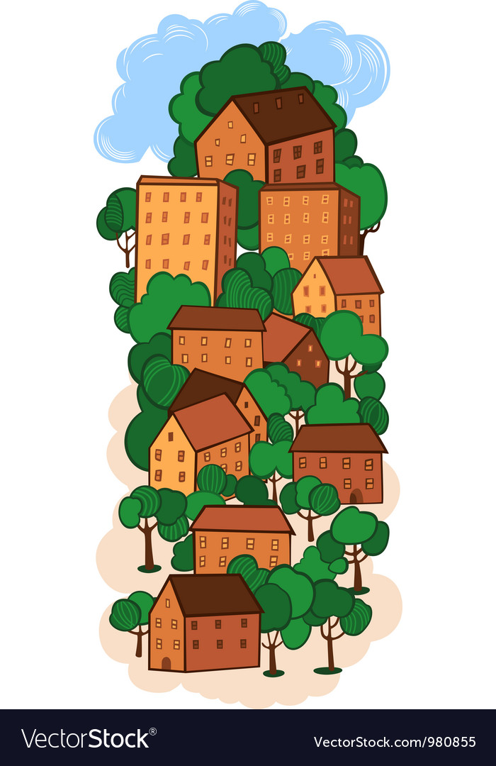 Old town vector | Price: 3 Credit (USD $3)