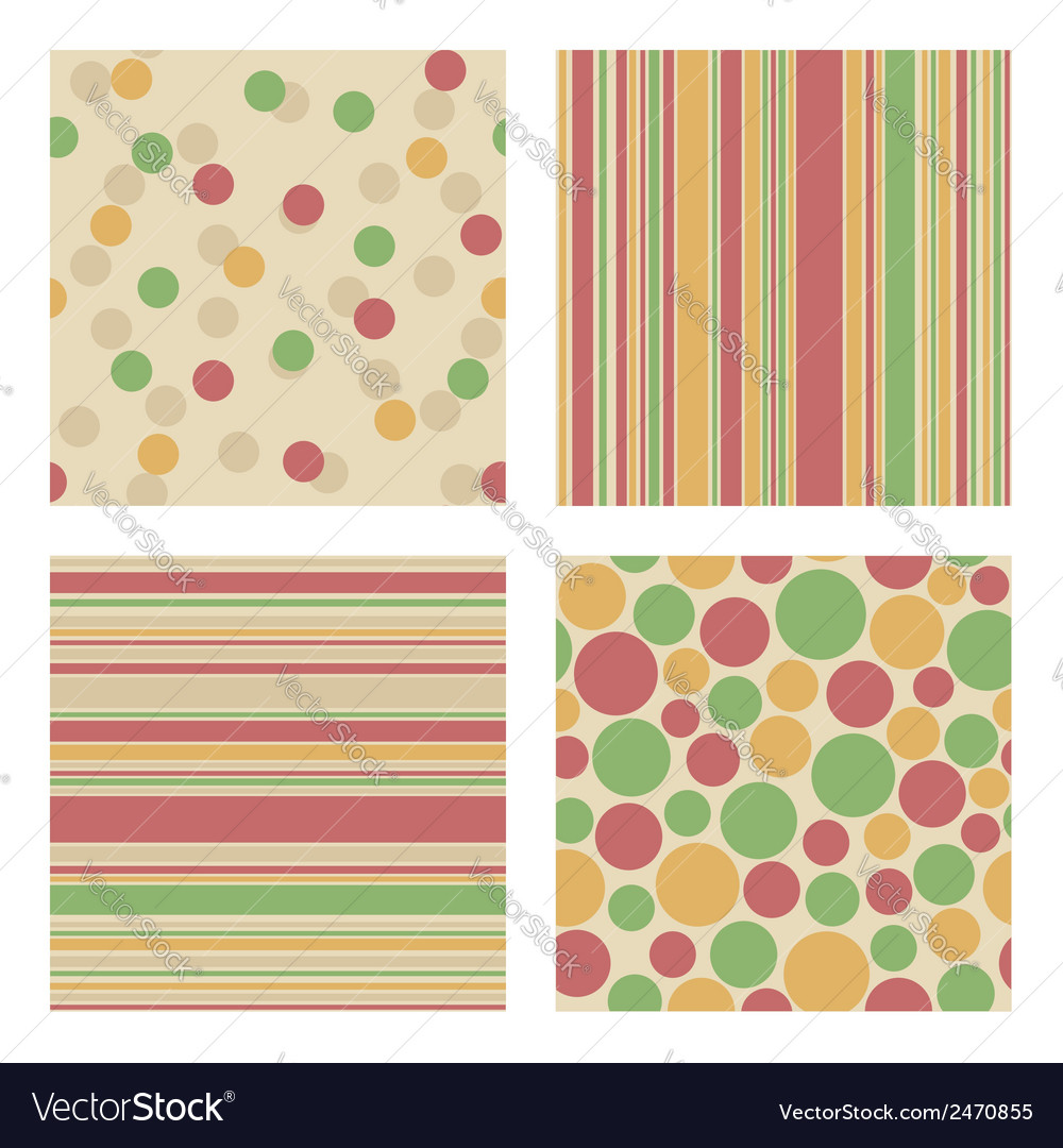 Set of bright retro patterns vector | Price: 1 Credit (USD $1)