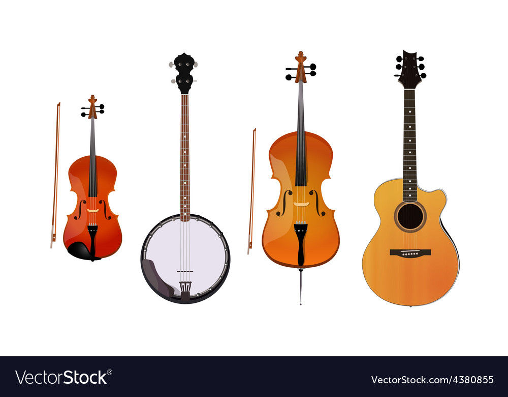 Set of orchestra and folk instruments vector | Price: 1 Credit (USD $1)