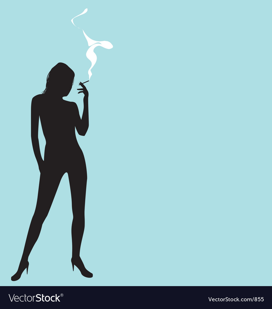 Smoking silhouette vector