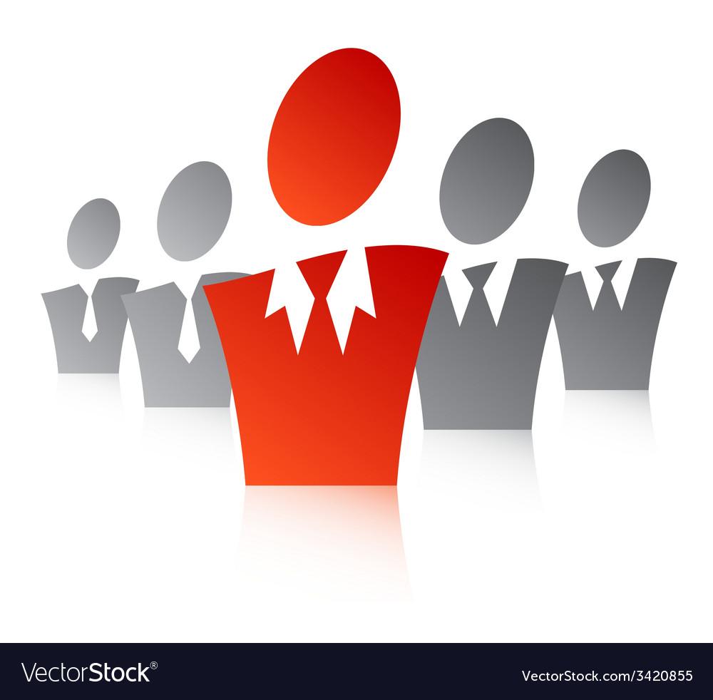 Team leader 5 vector | Price: 1 Credit (USD $1)