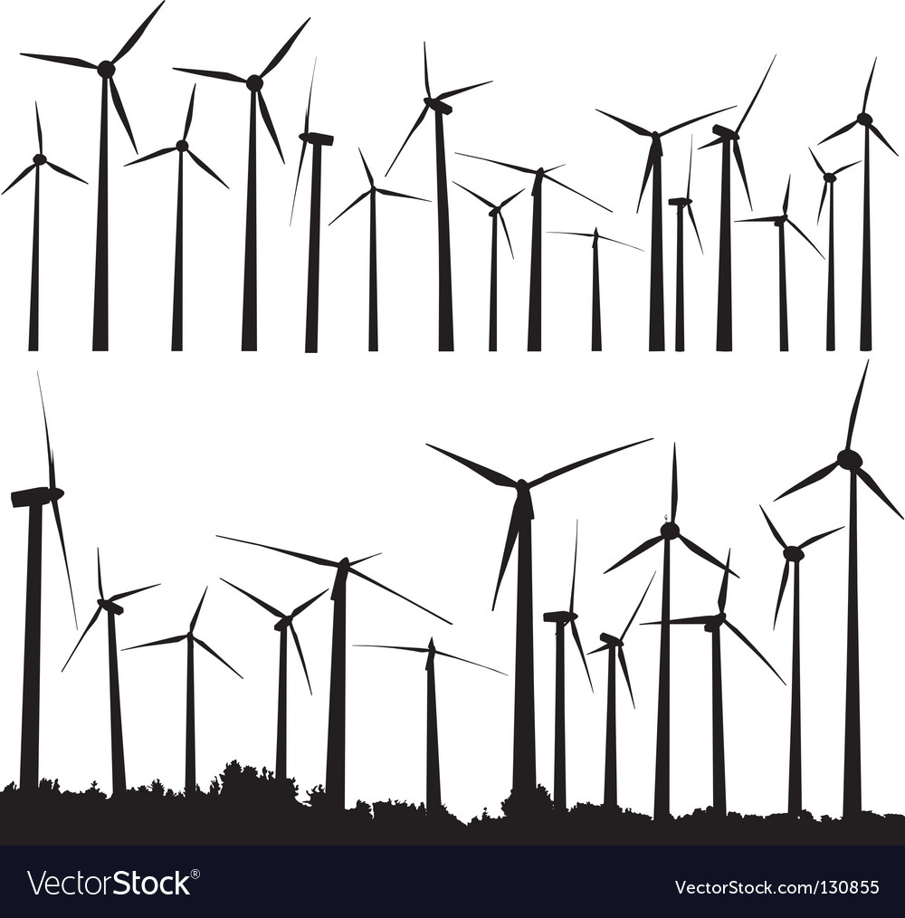 Wind turbines vector | Price: 1 Credit (USD $1)