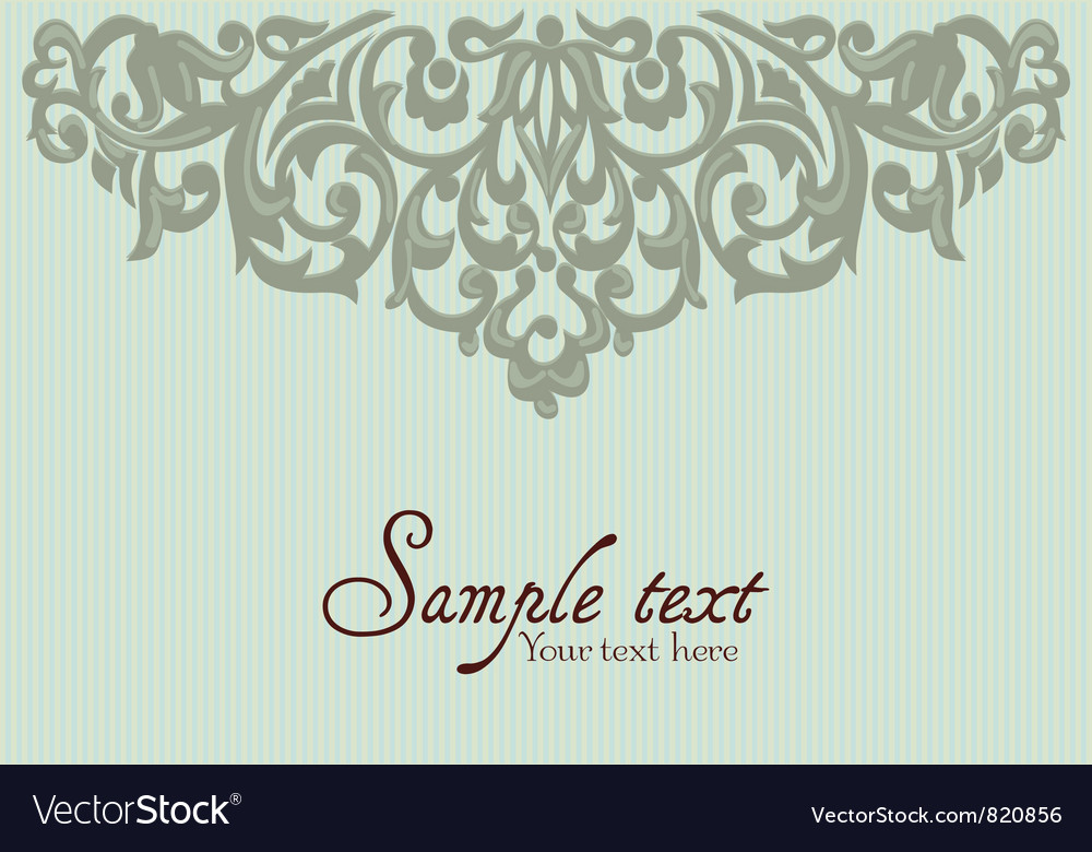 Background with vintage label vector | Price: 1 Credit (USD $1)