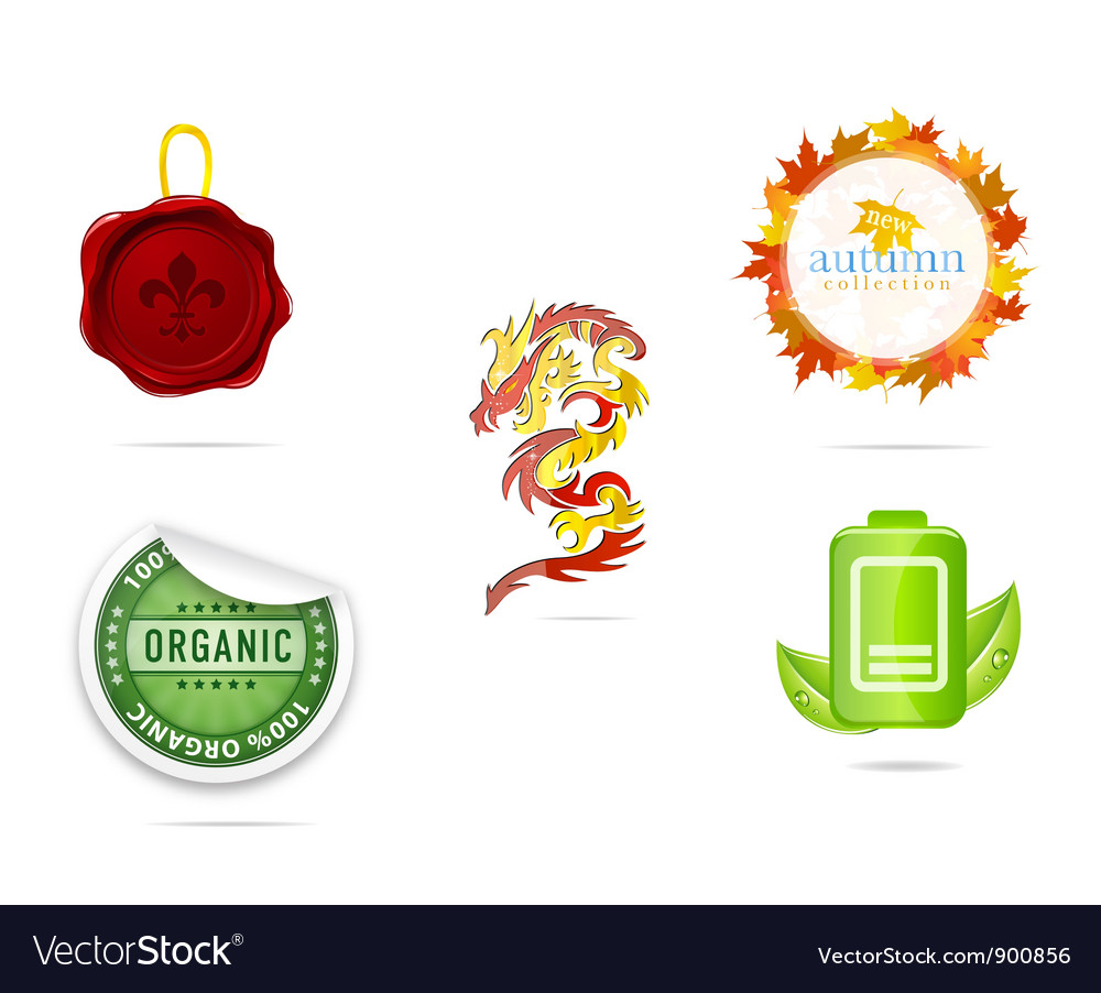 Creative nature and eco sign set vector | Price: 3 Credit (USD $3)