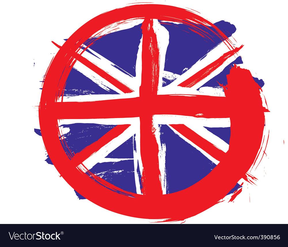 England circle flag vector | Price: 1 Credit (USD $1)