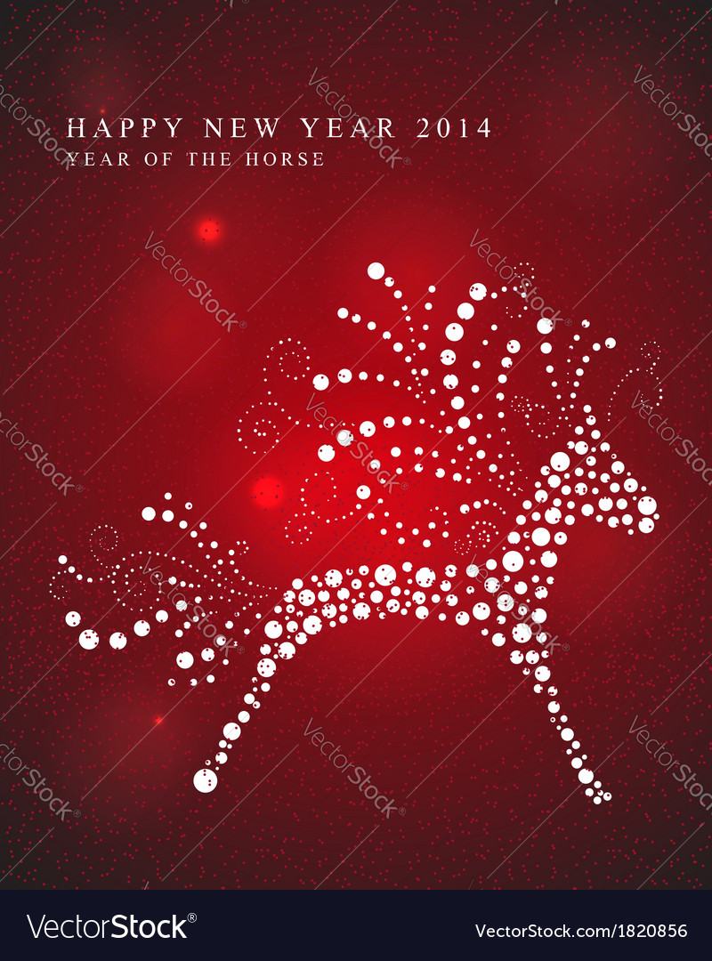 Happy year of the horse card vector | Price: 1 Credit (USD $1)