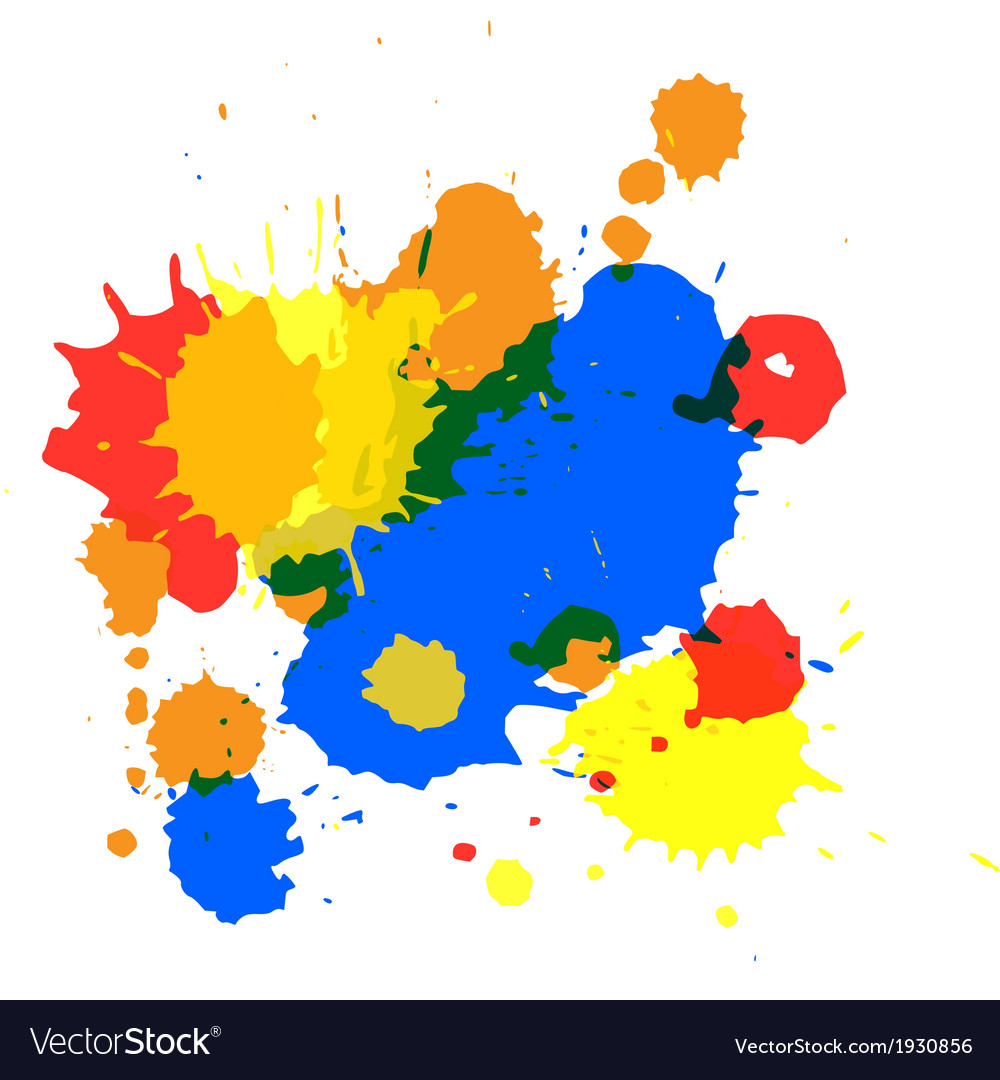 Isolated spot blots vector | Price: 1 Credit (USD $1)