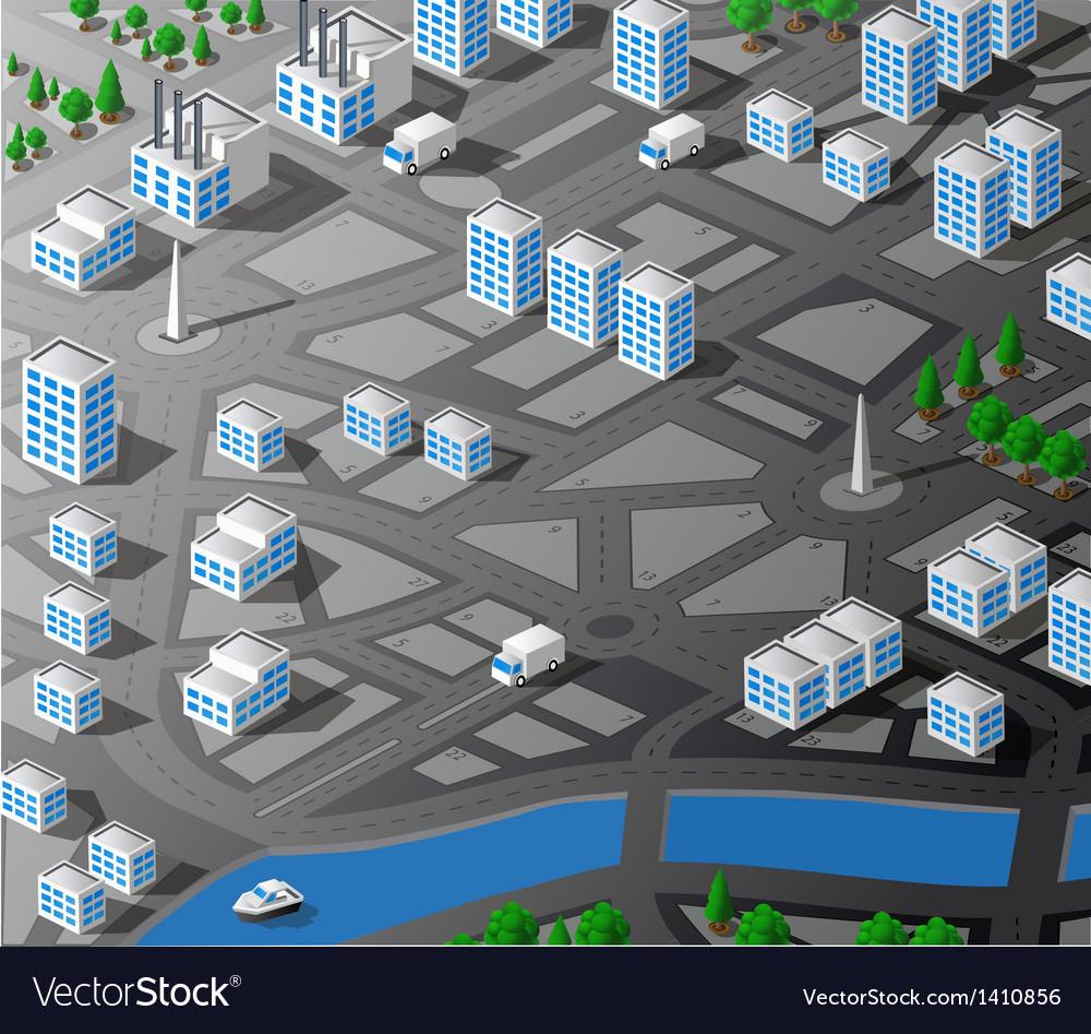 Isometric map vector | Price: 1 Credit (USD $1)