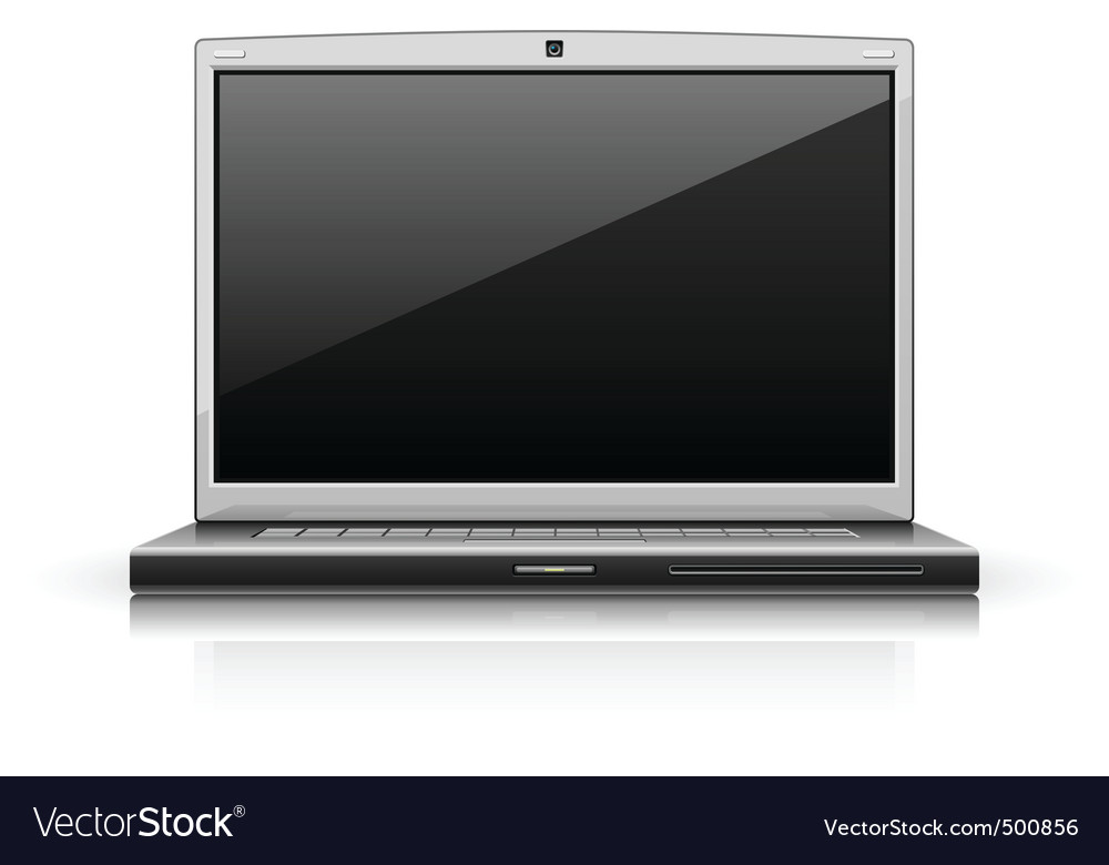 Laptop modern computer vector | Price: 1 Credit (USD $1)