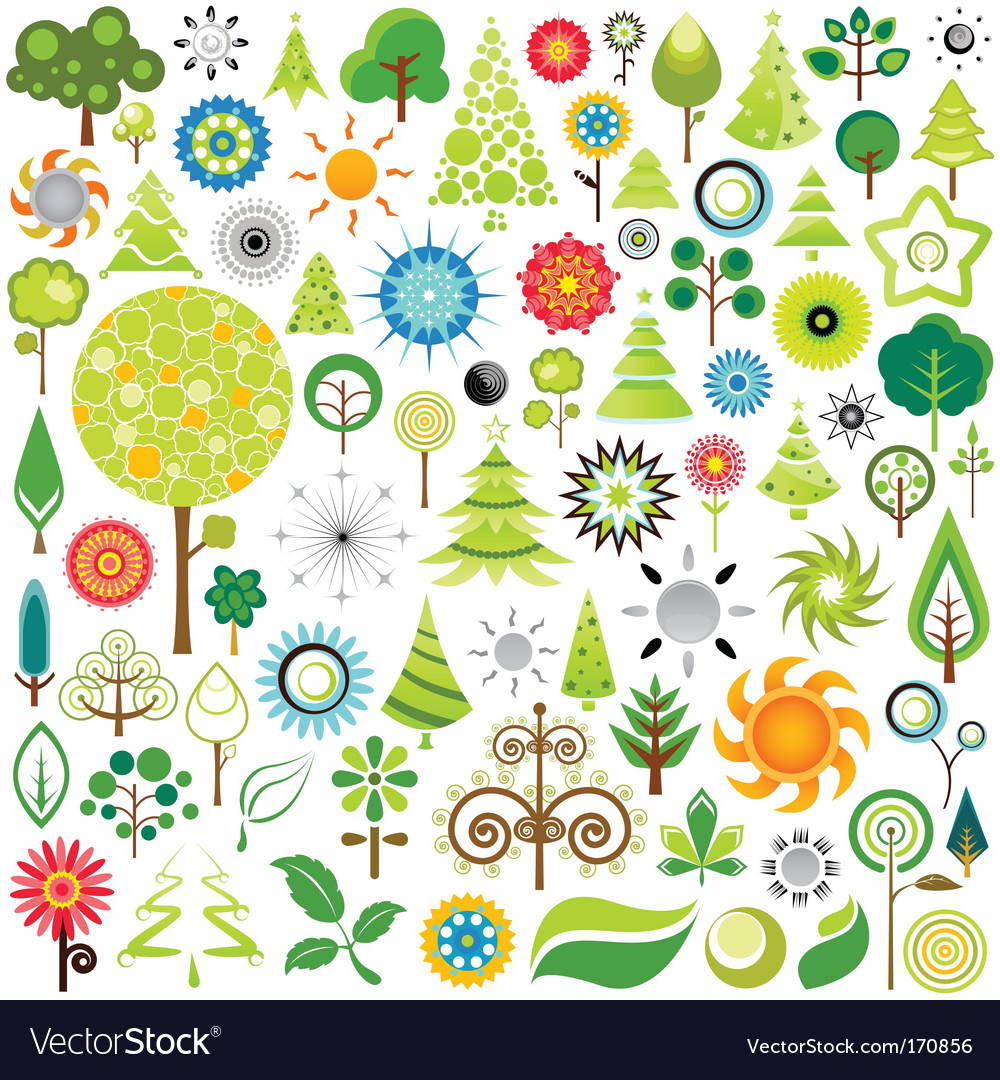 Nature icons vector | Price: 3 Credit (USD $3)