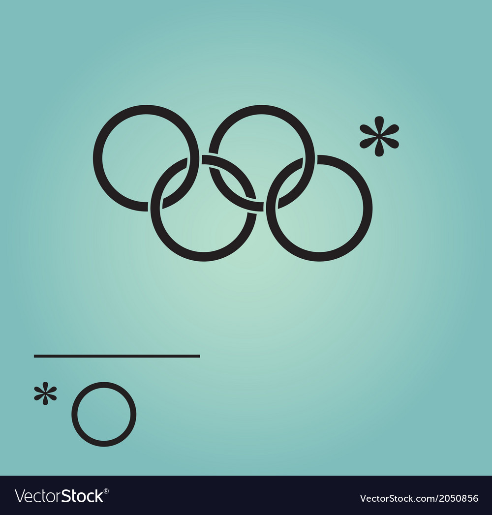 Olympic rings sochi russia 2014 vector | Price: 1 Credit (USD $1)