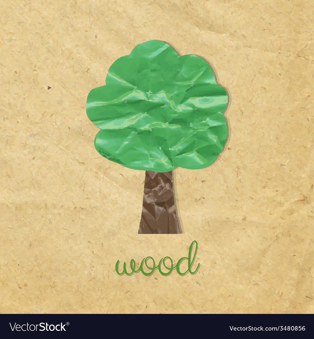 Paper wood symbol vector | Price: 1 Credit (USD $1)
