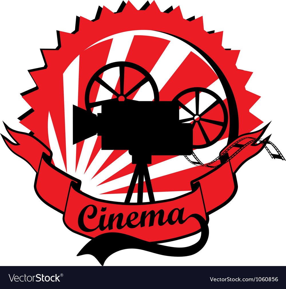 Retro cinema label vector | Price: 1 Credit (USD $1)