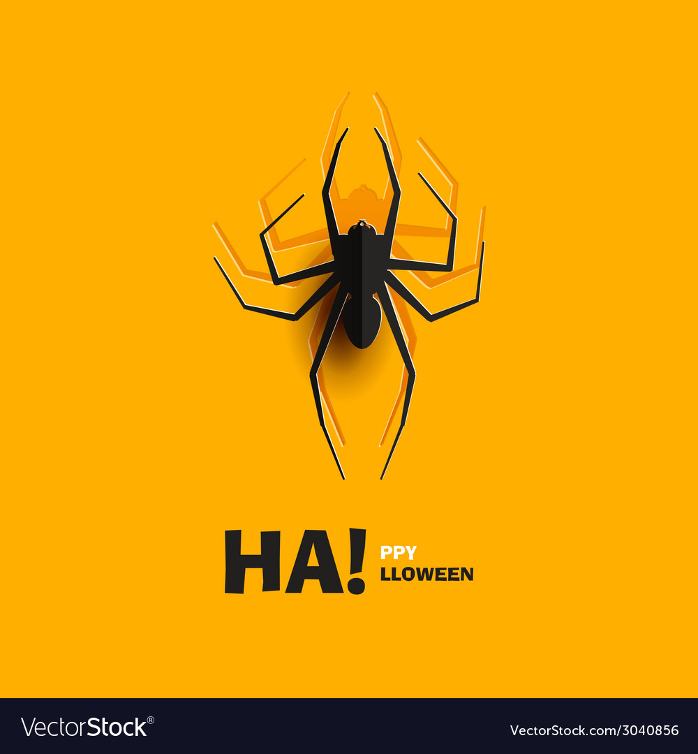 Spider cut out of paper vector | Price: 1 Credit (USD $1)