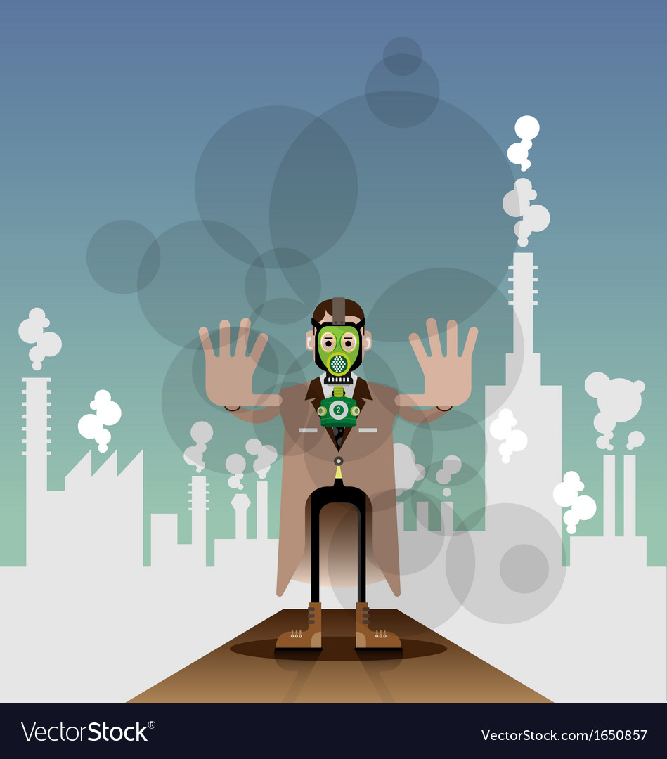Air pollution vector | Price: 1 Credit (USD $1)