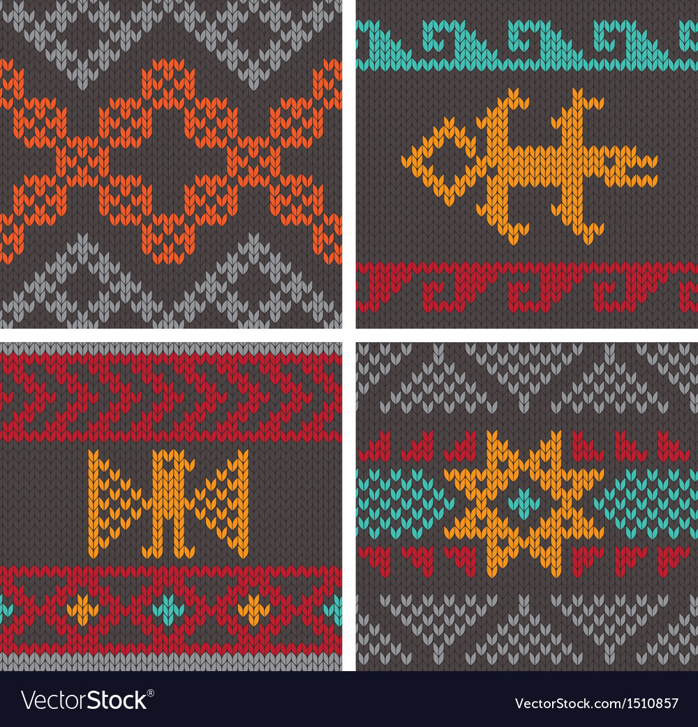 Andean knitting pattern vector | Price: 1 Credit (USD $1)