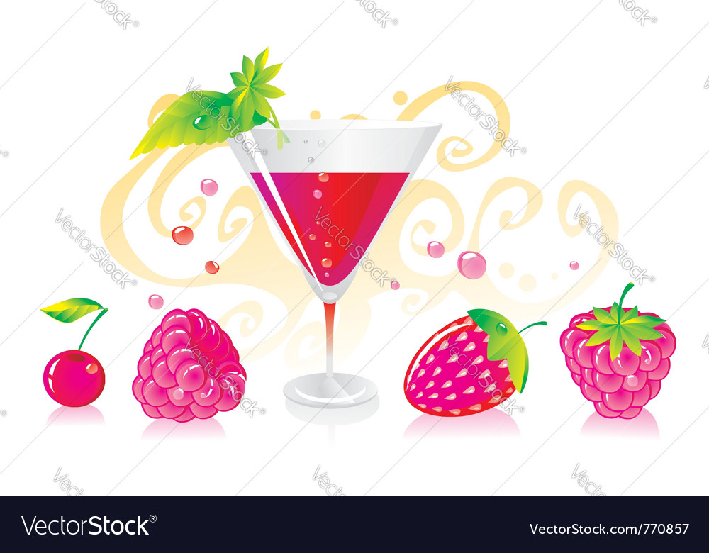Berry liqueur vector | Price: 1 Credit (USD $1)