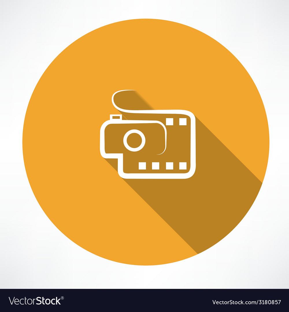 Camera and film icon vector | Price: 1 Credit (USD $1)
