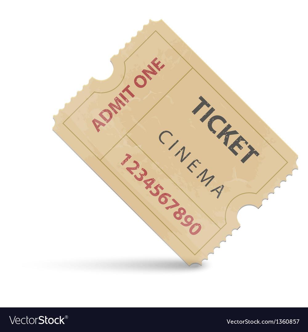 Cinema ticket vector | Price: 1 Credit (USD $1)