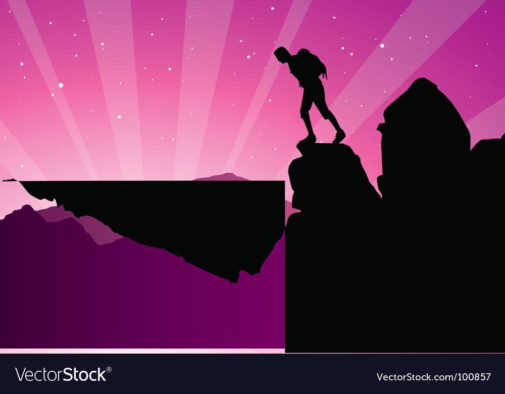 Climber silhouette vector   Price: 1 Credit (USD $1)