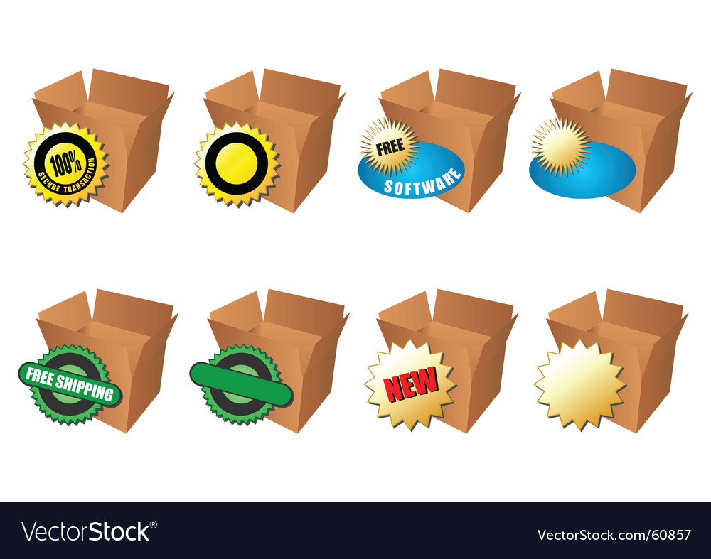 Commerce boxes vector | Price: 1 Credit (USD $1)