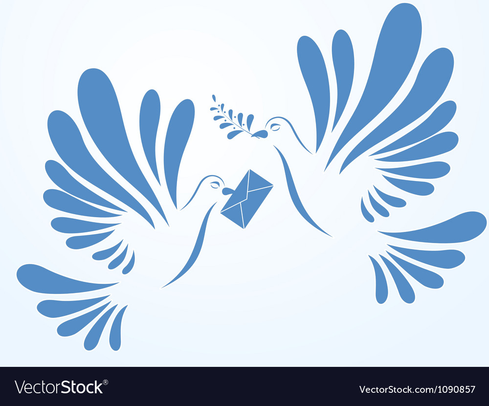 Doves with mail and spray vector | Price: 1 Credit (USD $1)