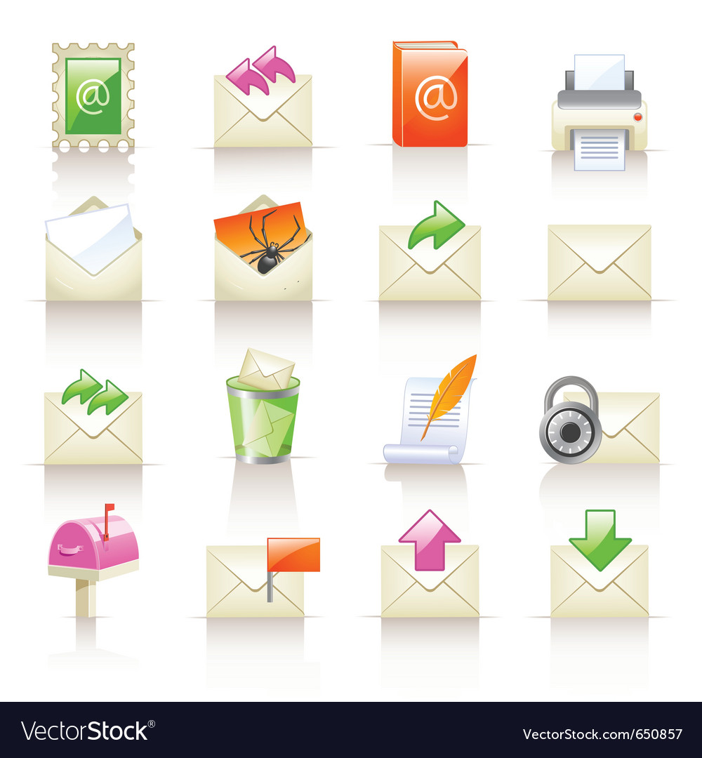 Mail service icons vector | Price: 3 Credit (USD $3)