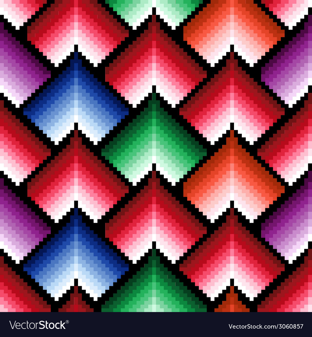 Seamless pattern with multicolor elements vector | Price: 1 Credit (USD $1)