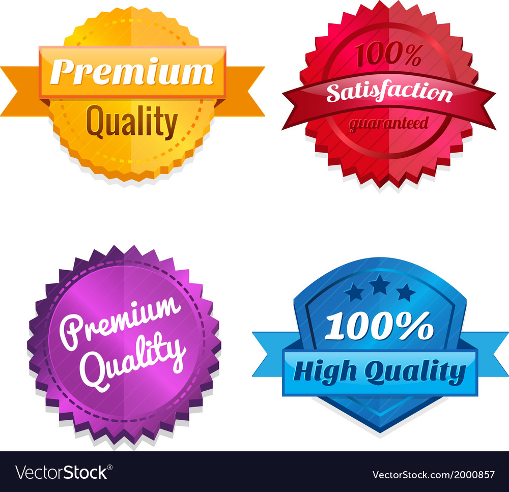 Set of product offer emblems vector | Price: 1 Credit (USD $1)