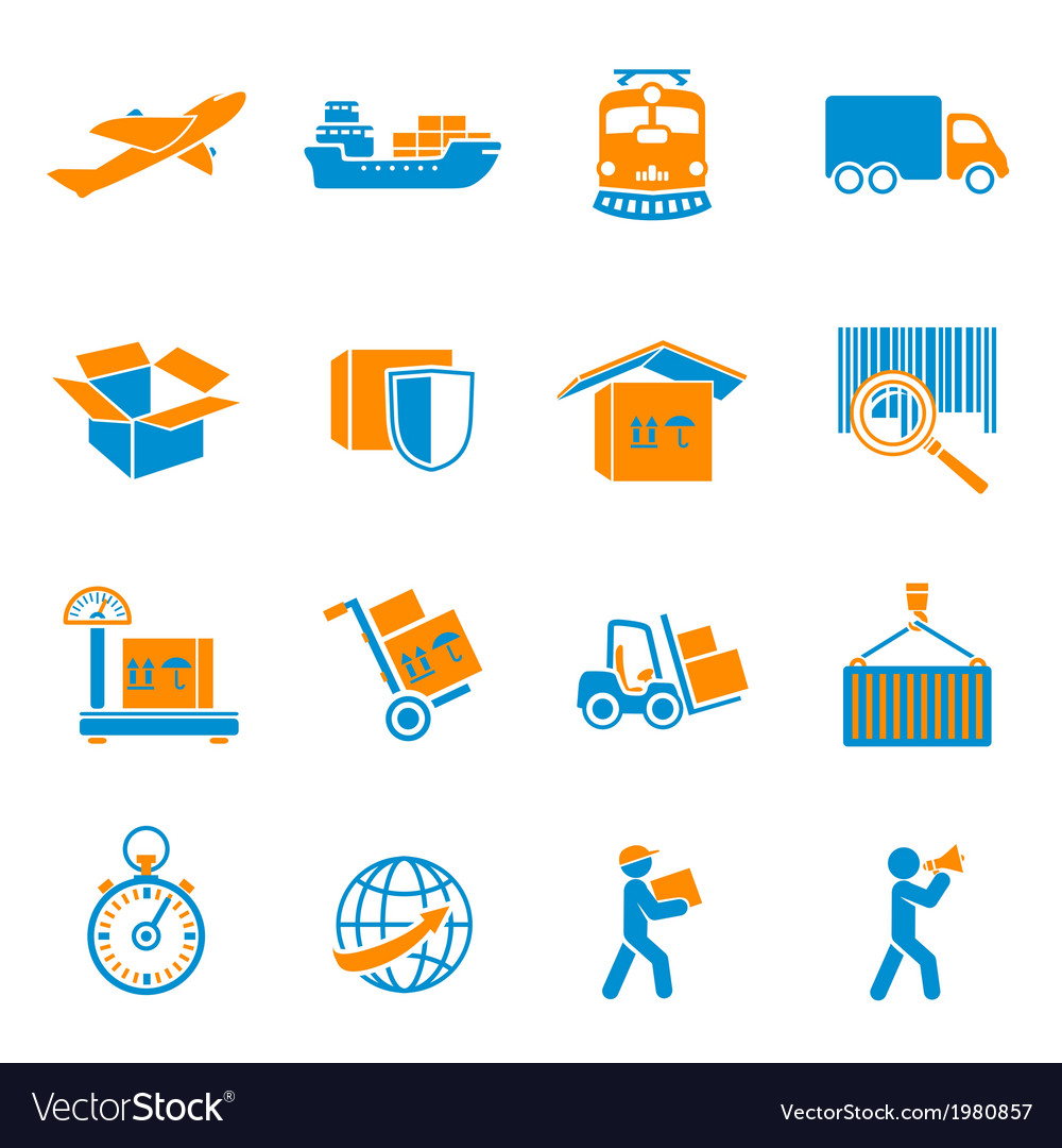 Shipping delivery icons set vector | Price: 1 Credit (USD $1)