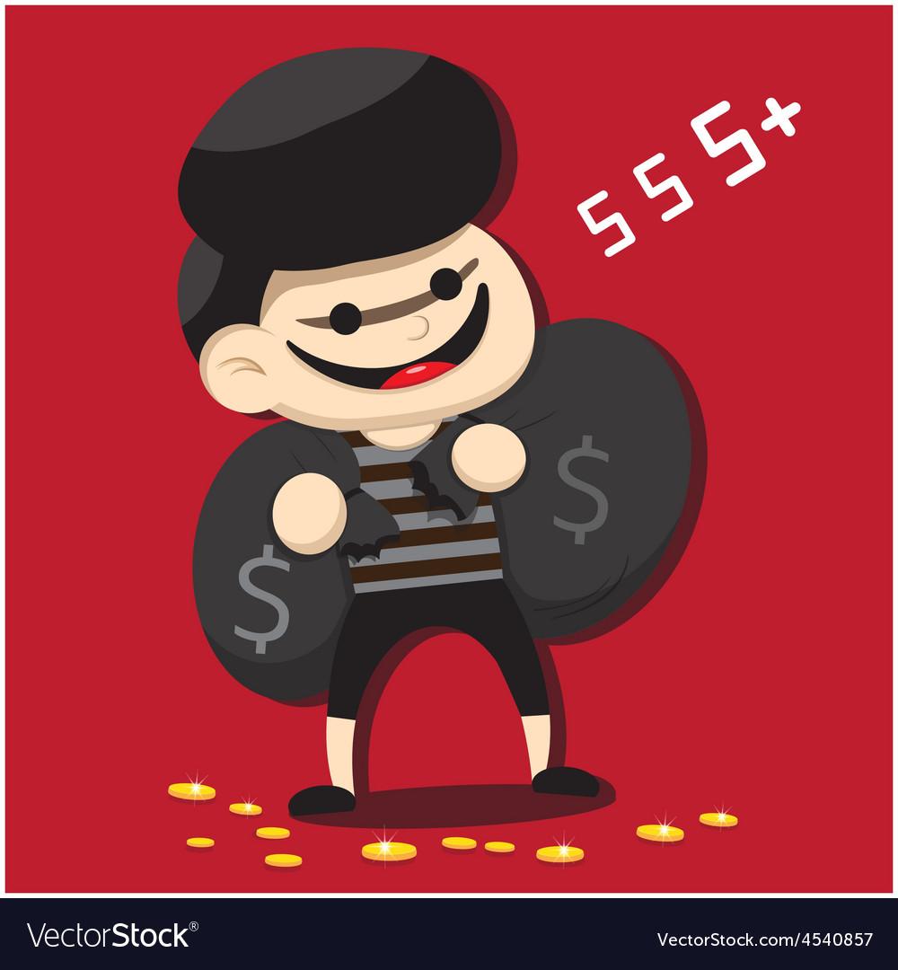 Thief cartoon vector | Price: 1 Credit (USD $1)