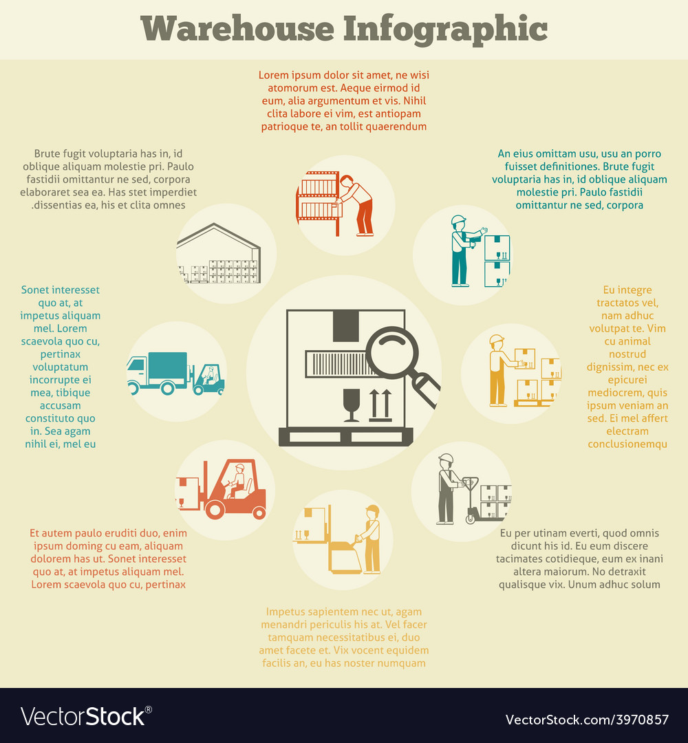 Warehouse infographics set vector | Price: 1 Credit (USD $1)
