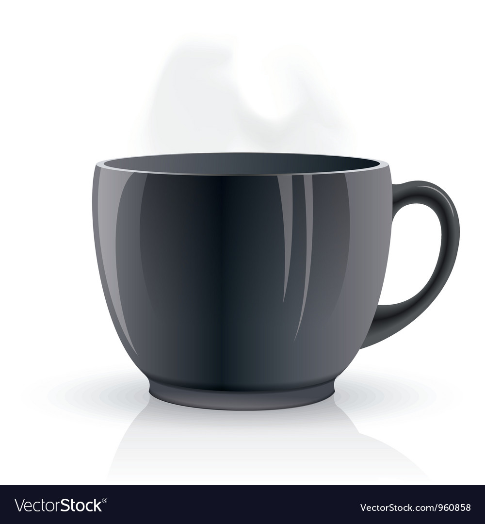 Black hot teacup vector | Price: 1 Credit (USD $1)