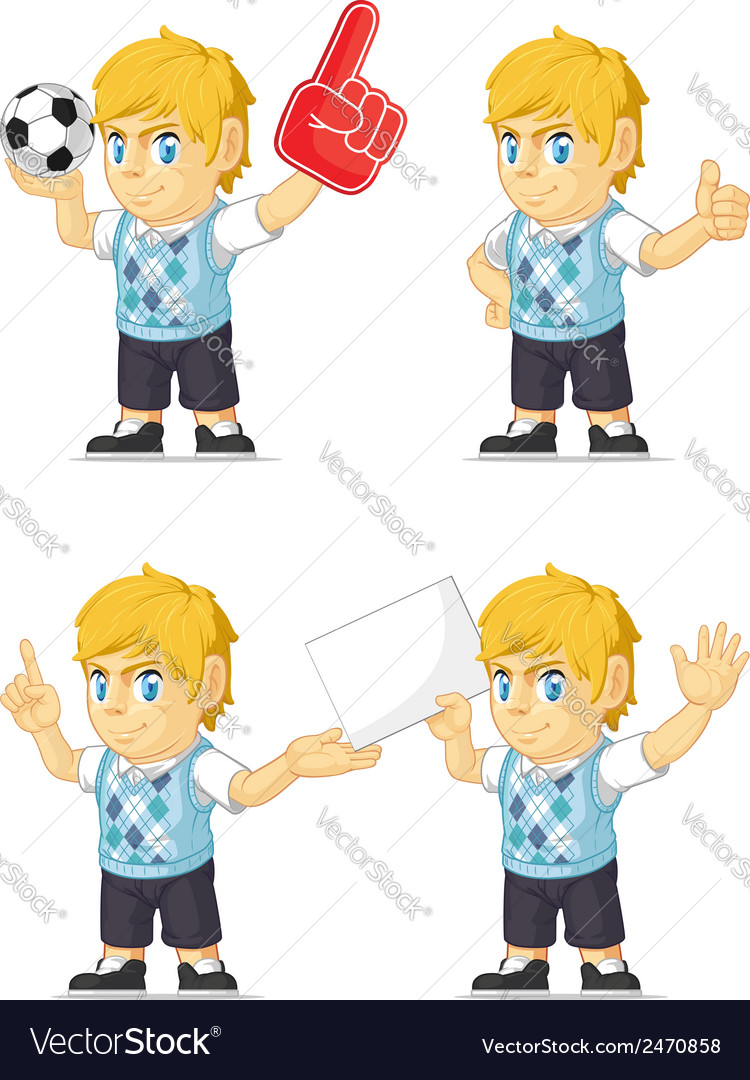 Blonde rich boy customizable mascot 3 vector | Price: 1 Credit (USD $1)