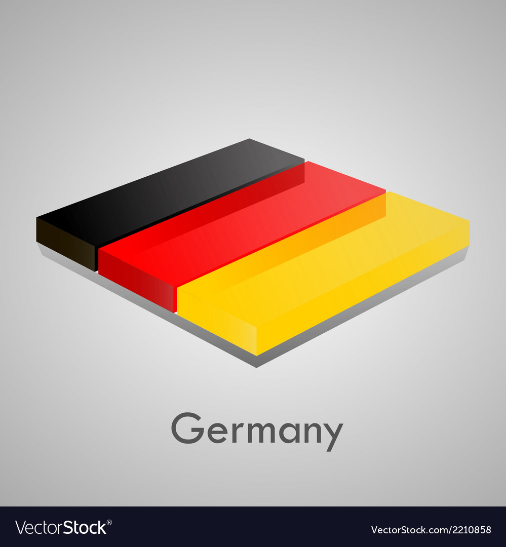 European flags set - germany vector | Price: 1 Credit (USD $1)