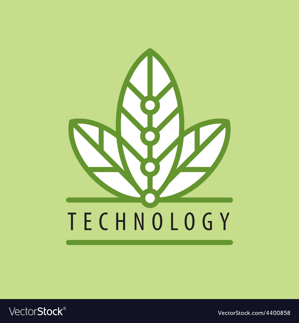 Logo in chip technology petal vector | Price: 1 Credit (USD $1)