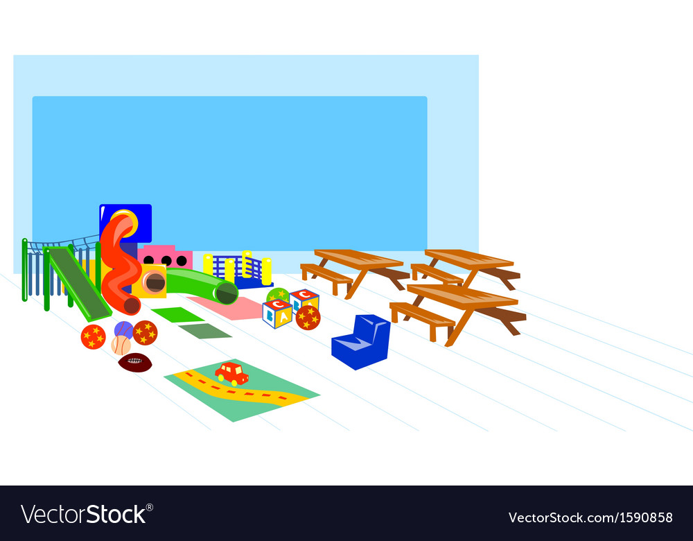 Playground slides picnic table benches vector | Price: 1 Credit (USD $1)