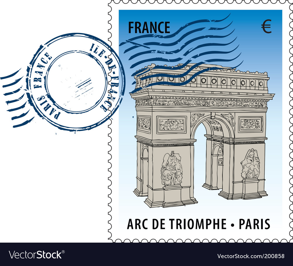Postmark from france vector | Price: 1 Credit (USD $1)
