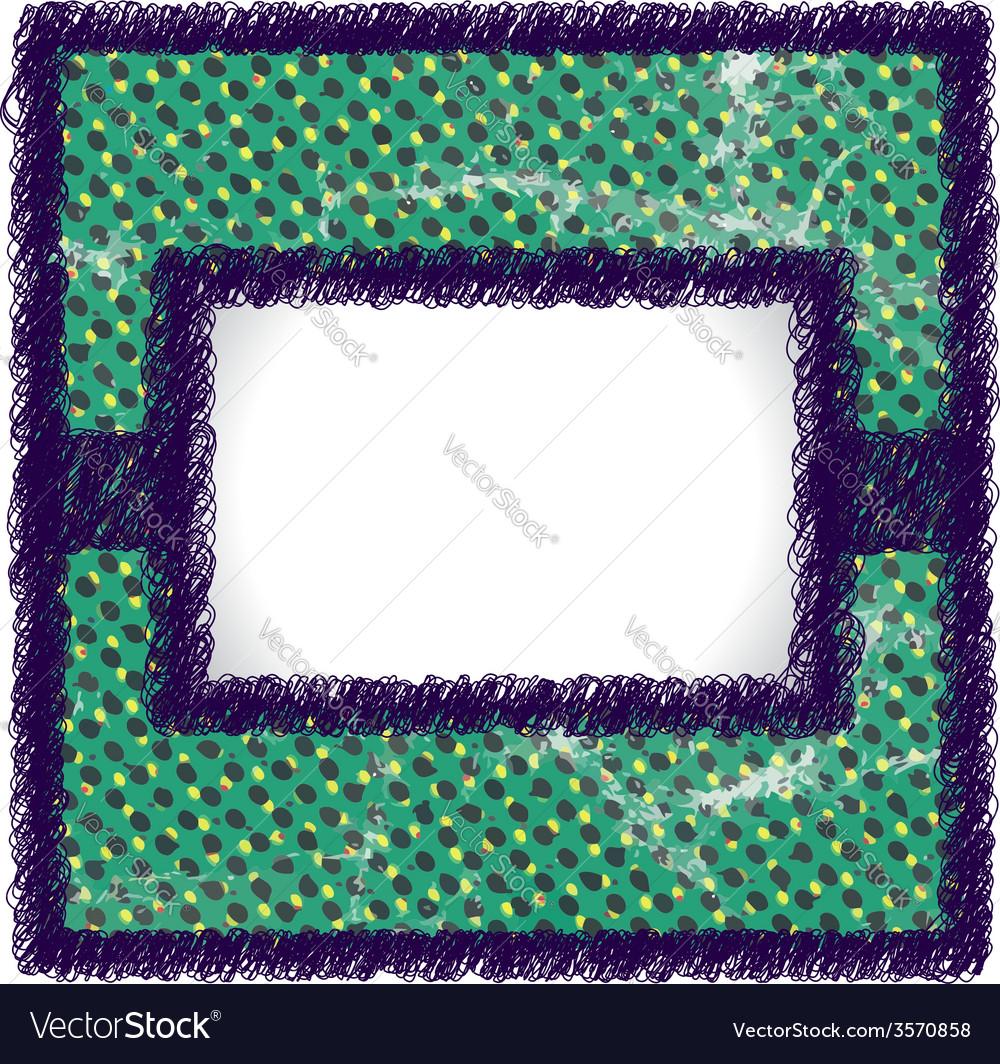 Raster scribbled frame vector | Price: 1 Credit (USD $1)