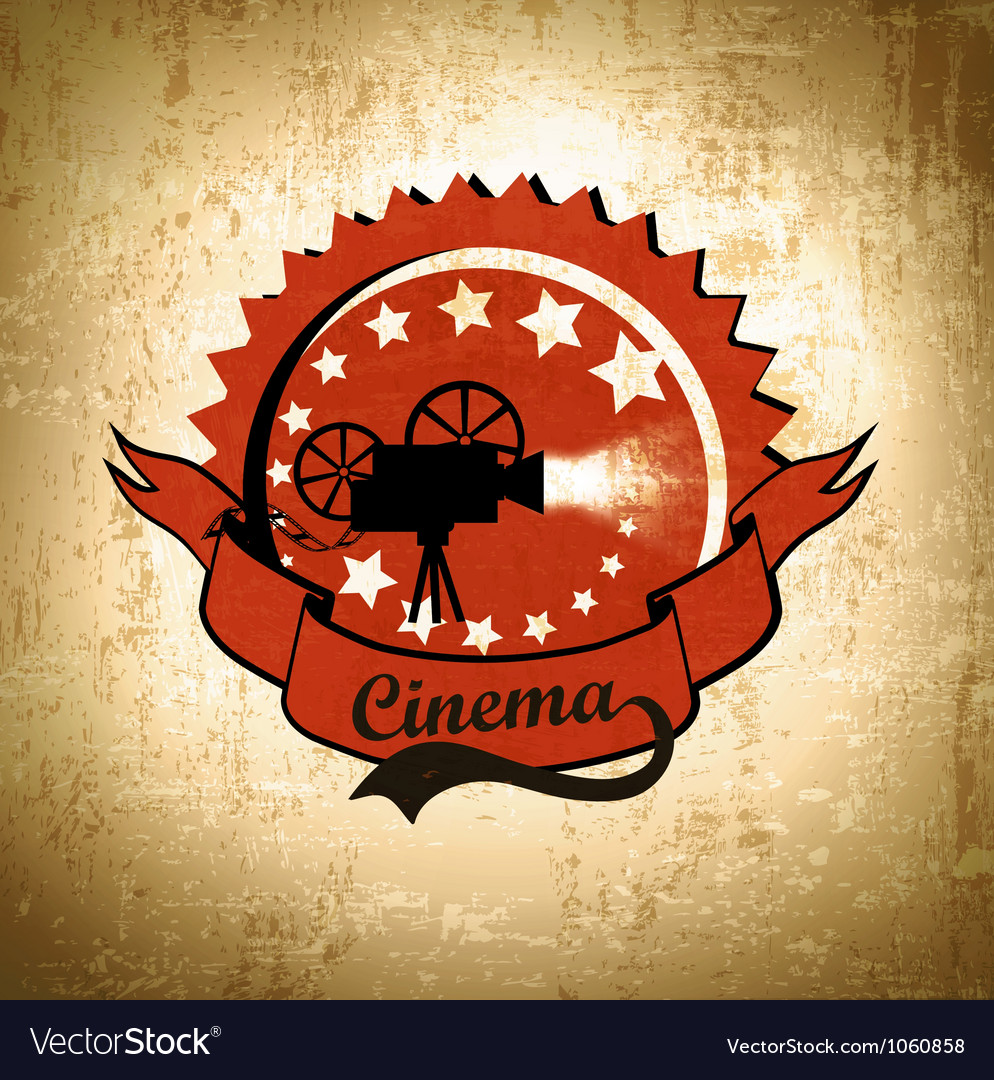 Retro cinema background vector | Price: 1 Credit (USD $1)