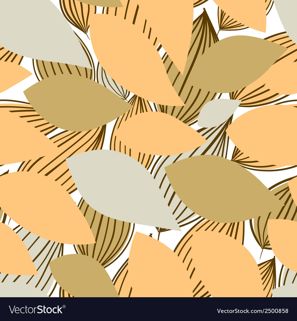 Seamless floral pattern hand drawn vector | Price: 1 Credit (USD $1)