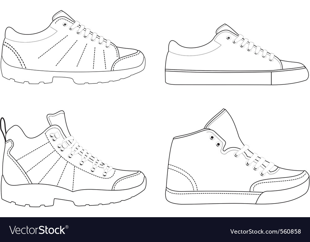 Sports footwear vector | Price: 1 Credit (USD $1)