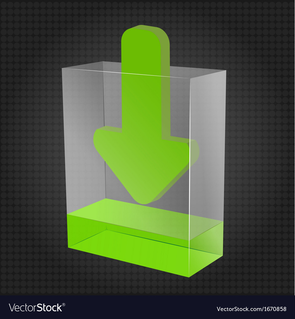 Transparent download box vector | Price: 1 Credit (USD $1)