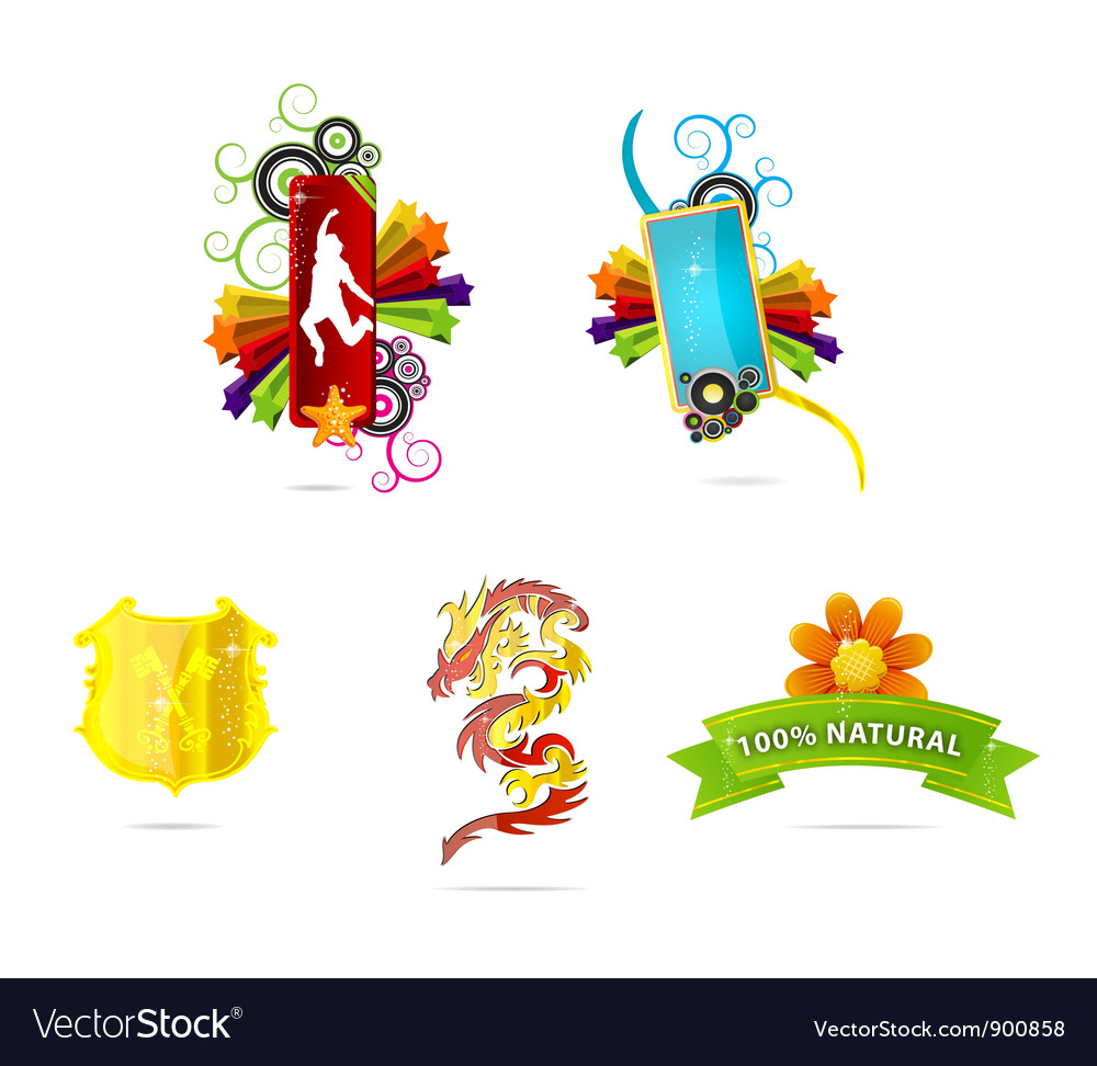 Web and abstract emblems and sign vector | Price: 3 Credit (USD $3)