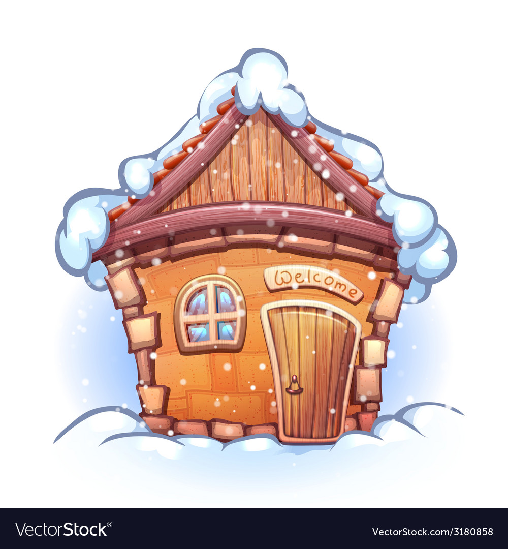 Winter cartoon home vector | Price: 1 Credit (USD $1)