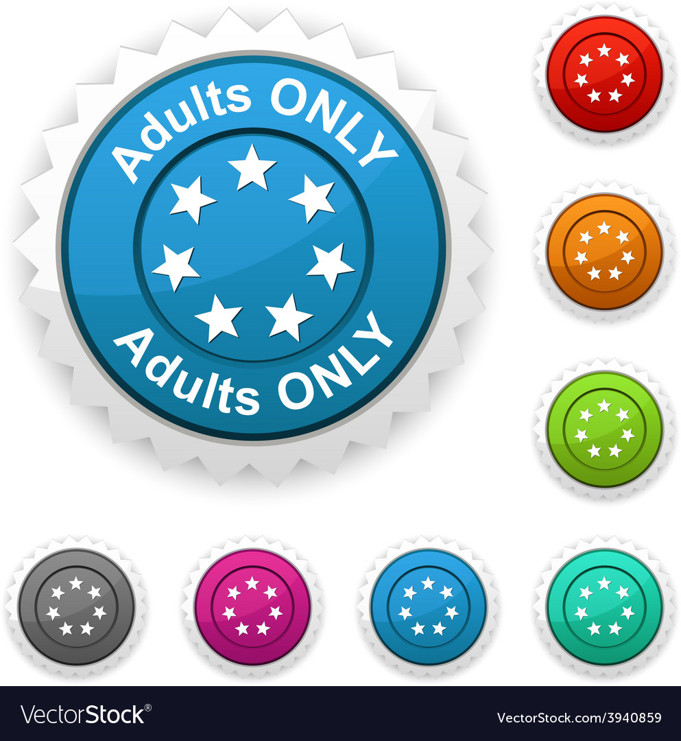 Adults only award vector | Price: 1 Credit (USD $1)