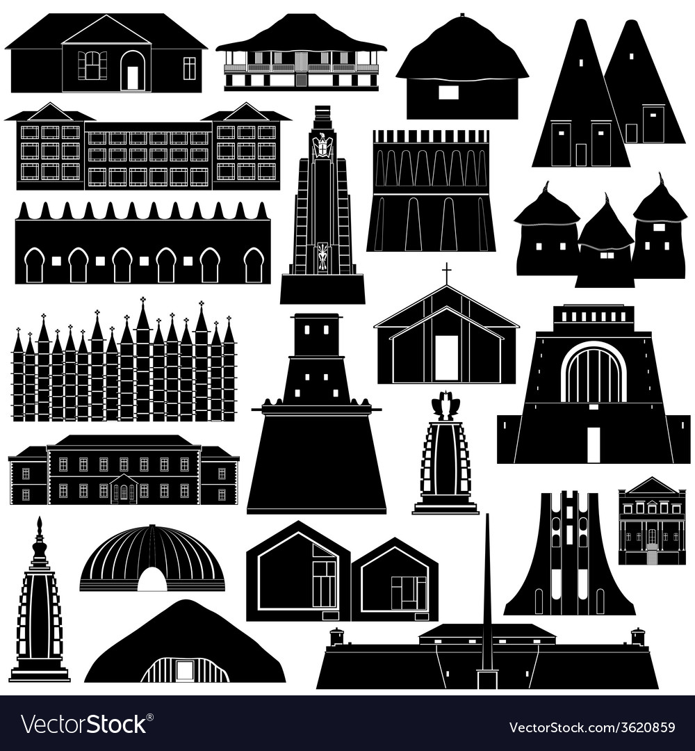 Architecture africa-1 vector | Price: 1 Credit (USD $1)